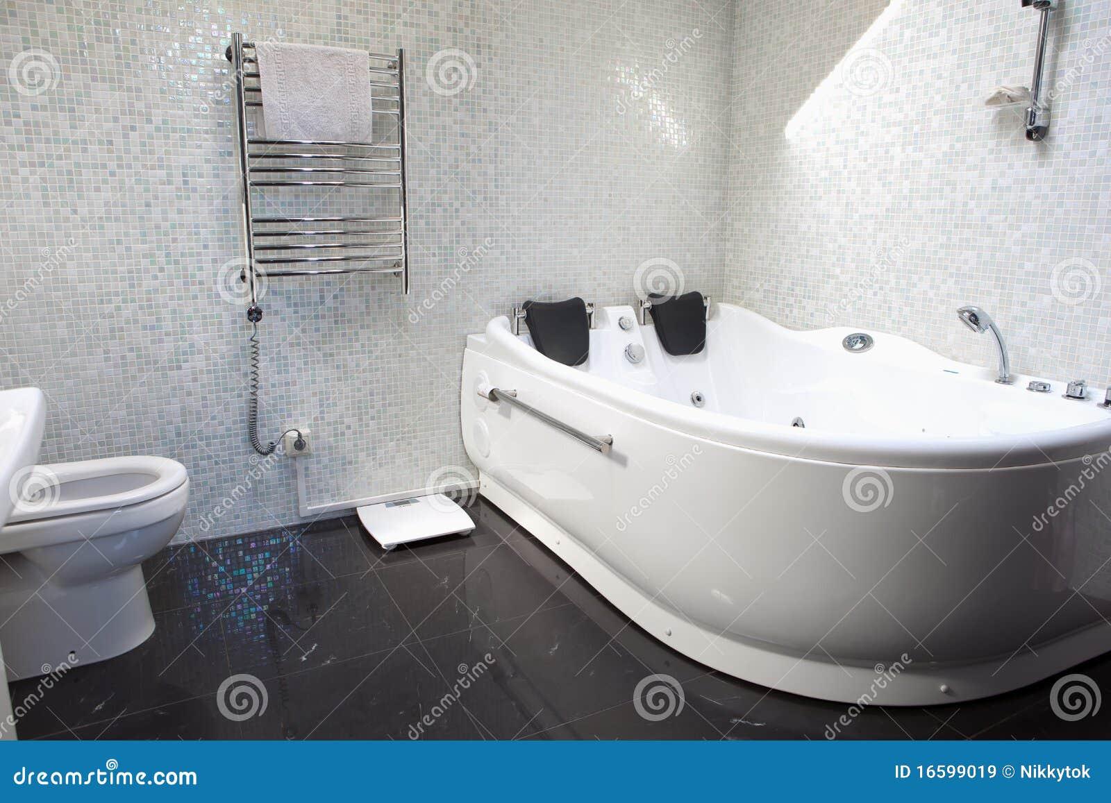 Luxury bathroom stock image. Image of luxurious, double - 16599019