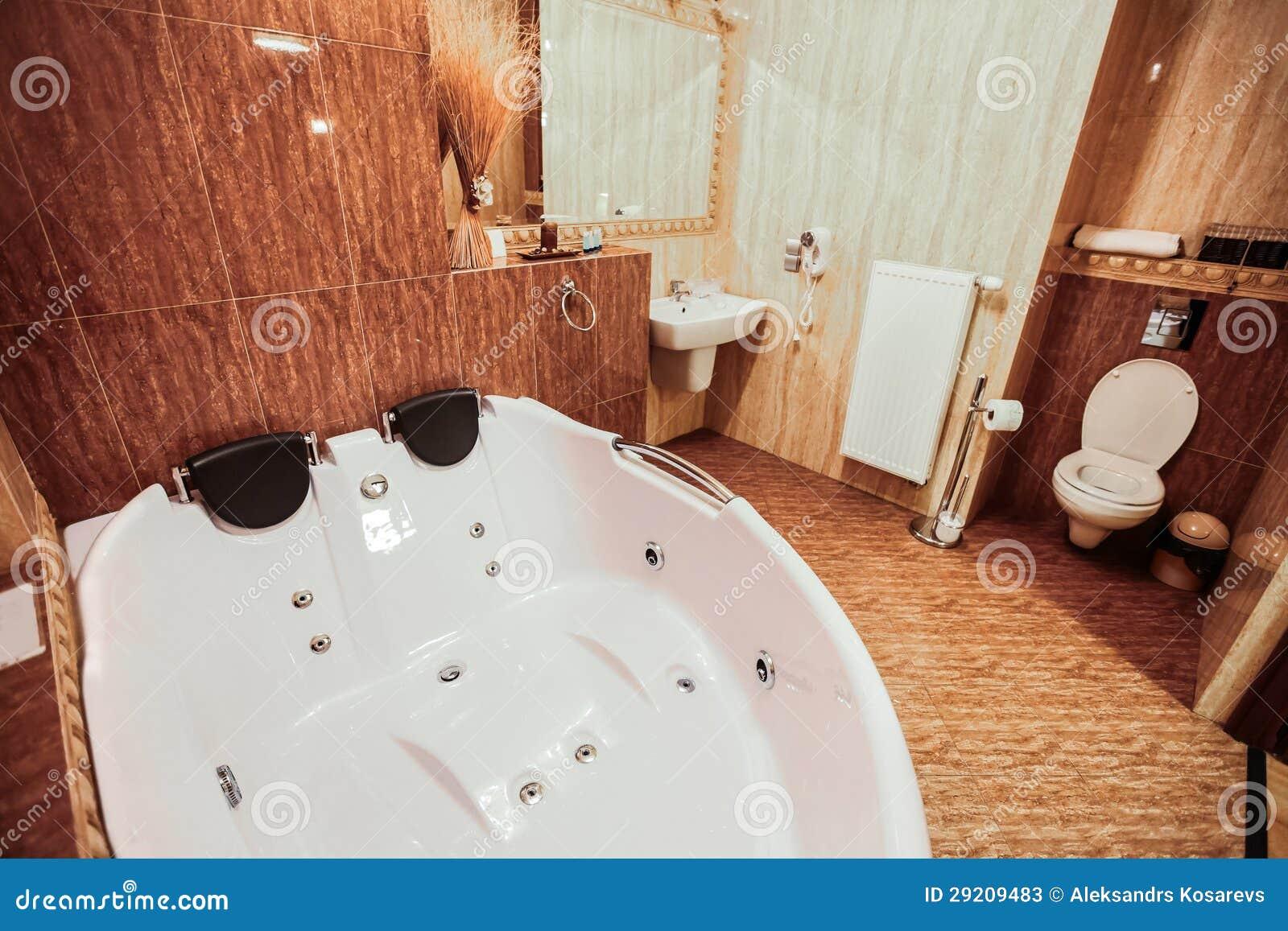 Luxury bathroom with gigantic jacuzzi