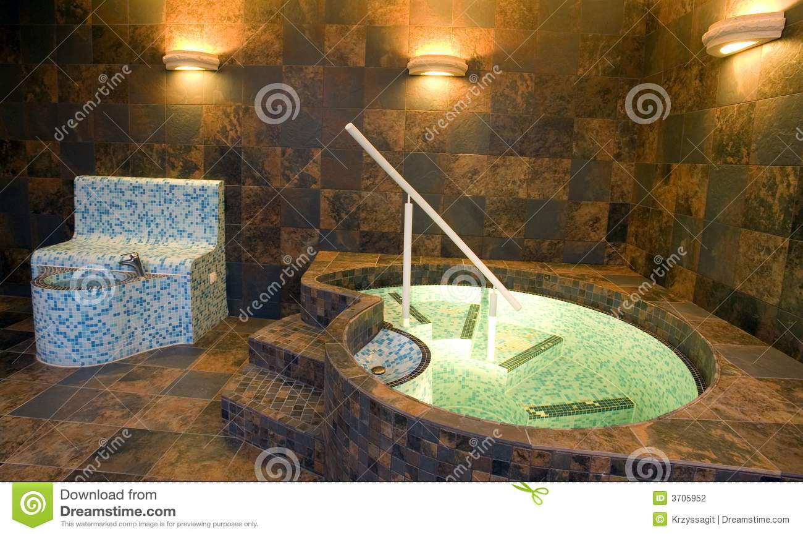 Luxury Bathroom With Jacuzzi Stock Photography Image