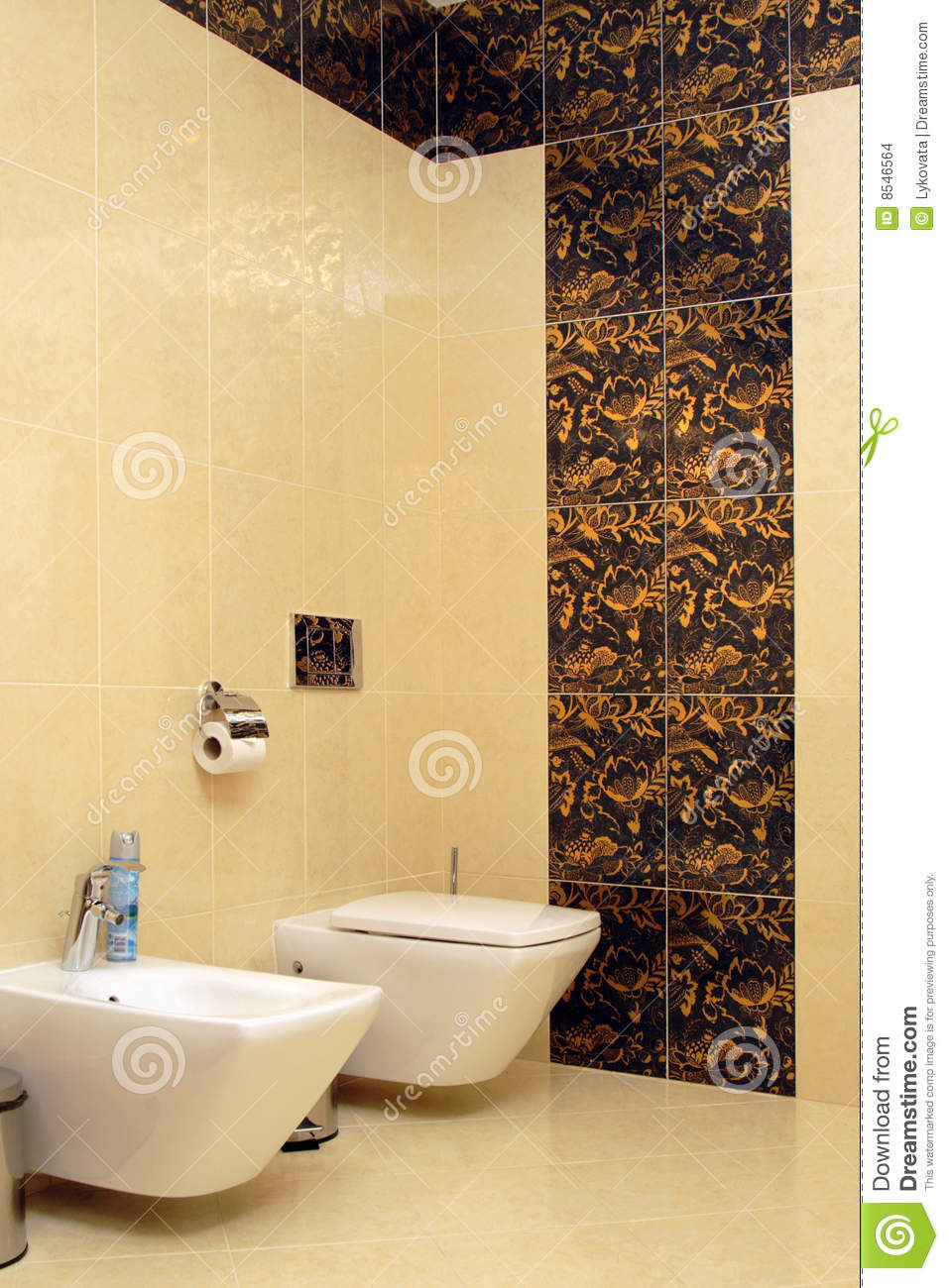 Luxury Bathroom With Toilet Sink And Bidet Stock Images