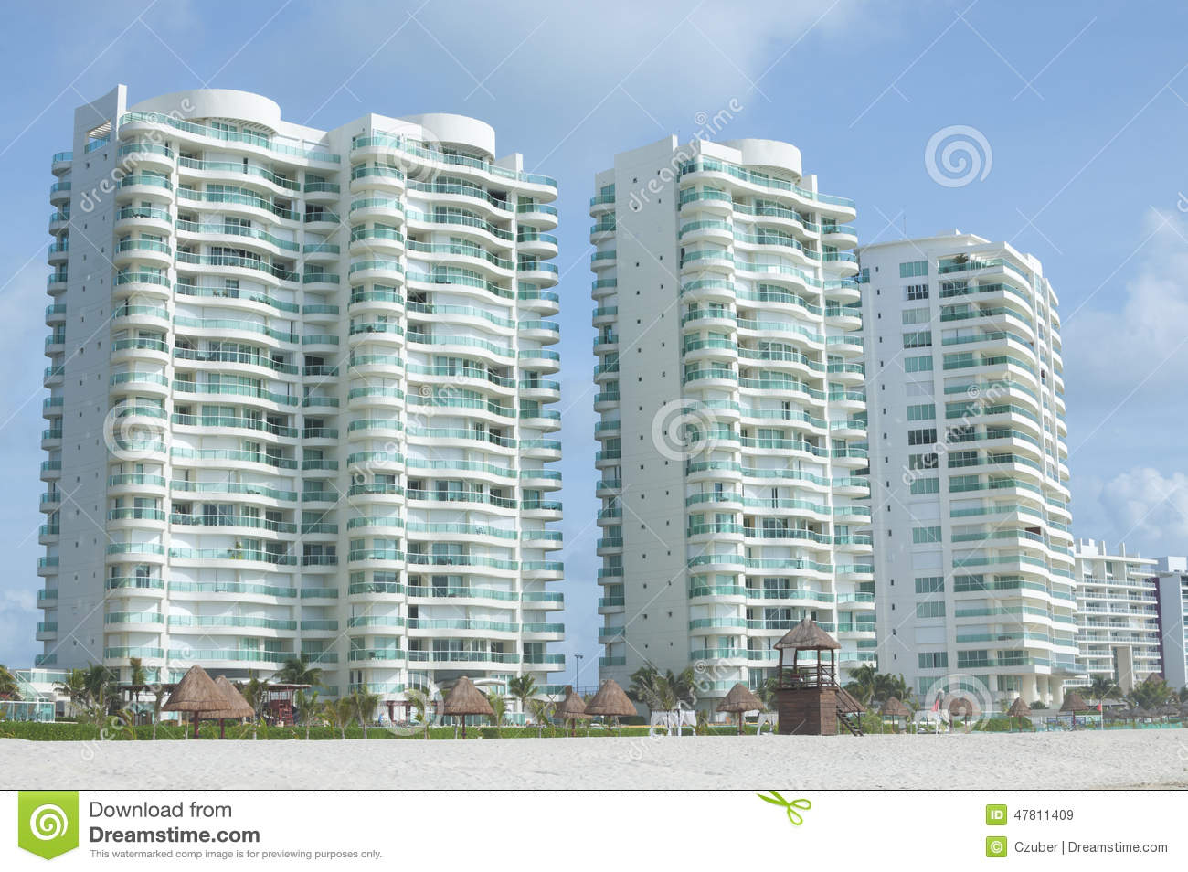 Luxury Beach Condos Editorial Stock Image - Image: 47811409