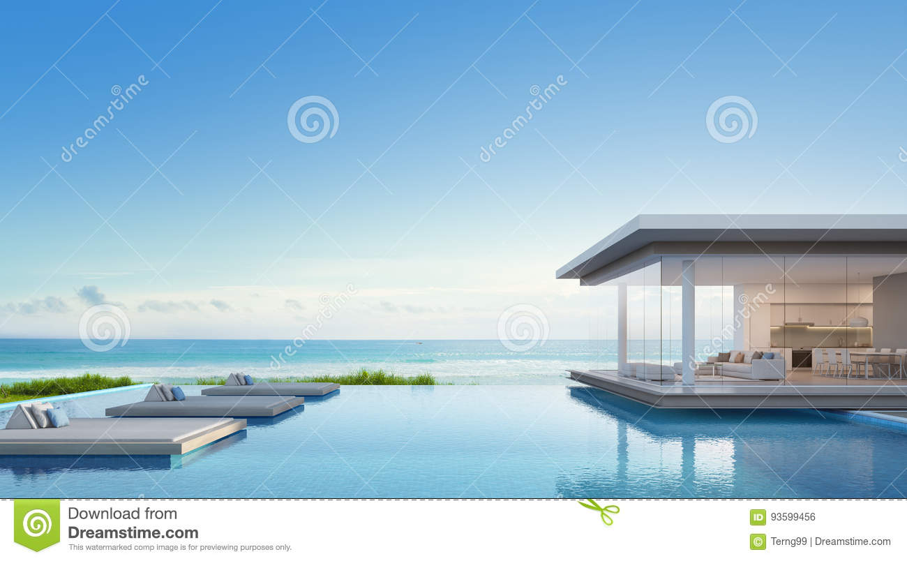 Luxury Beach House With Sea View Swimming Pool In Modern Design Vacation Home For Big Family