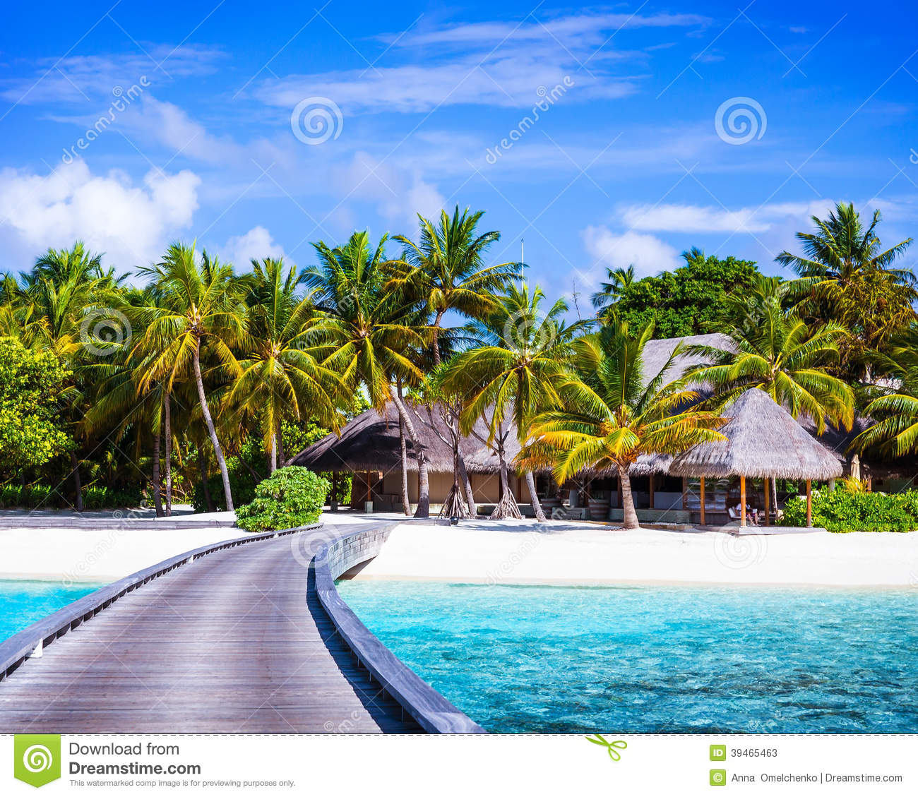 Beach Island: Luxury Beach Resort Stock Photo