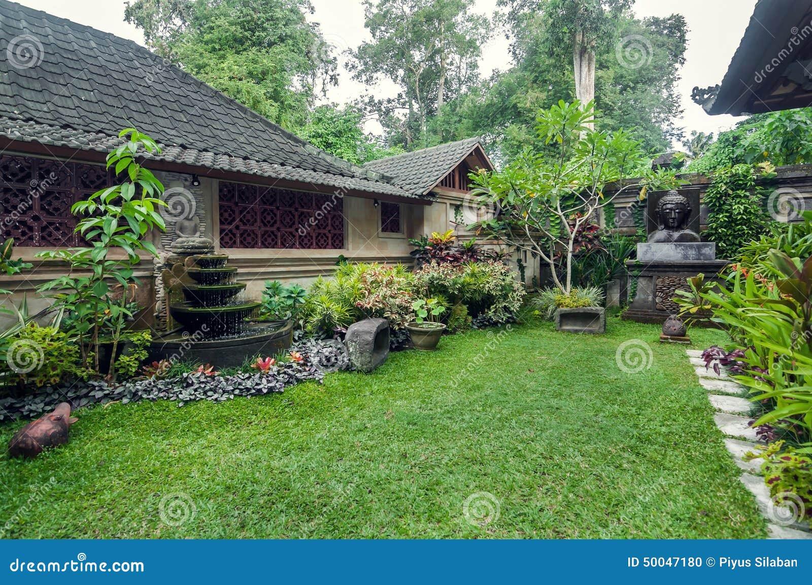 Luxury And Beautiful Exterior Garden Villa Stock Photo