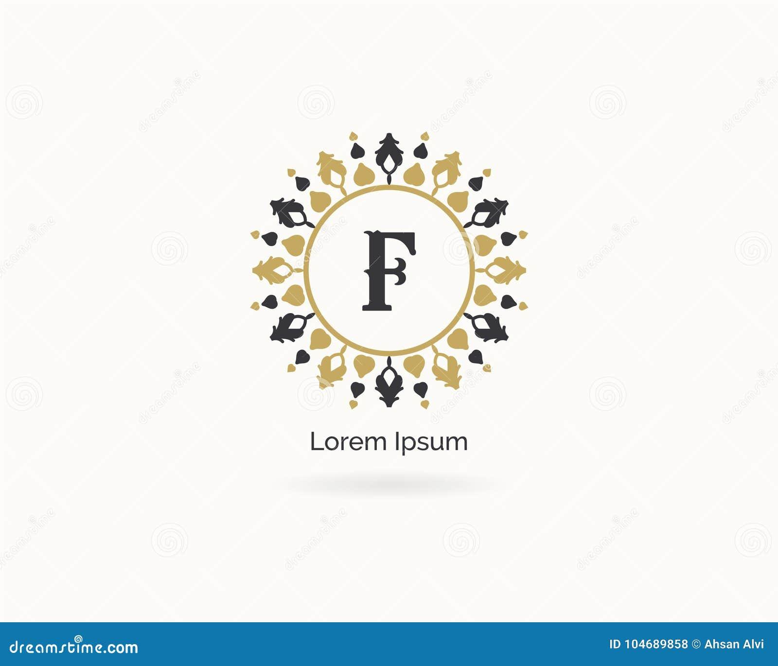 Cosmetics, Spa And Salon Letter F Icon. Luxury Hotel F