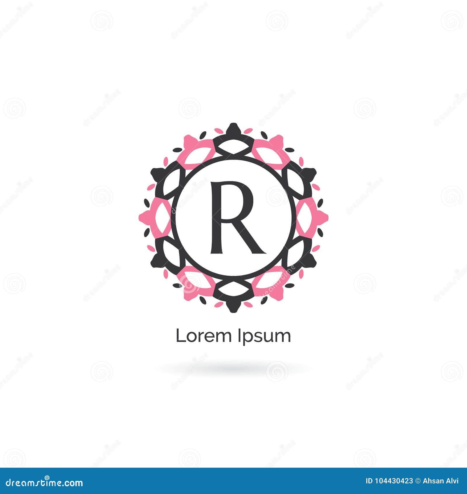 635f8250 Vintage letter R icon design. Luxury R letter logo. Vector illustration  decorative and ornamental monogram. Royalty-Free Illustration