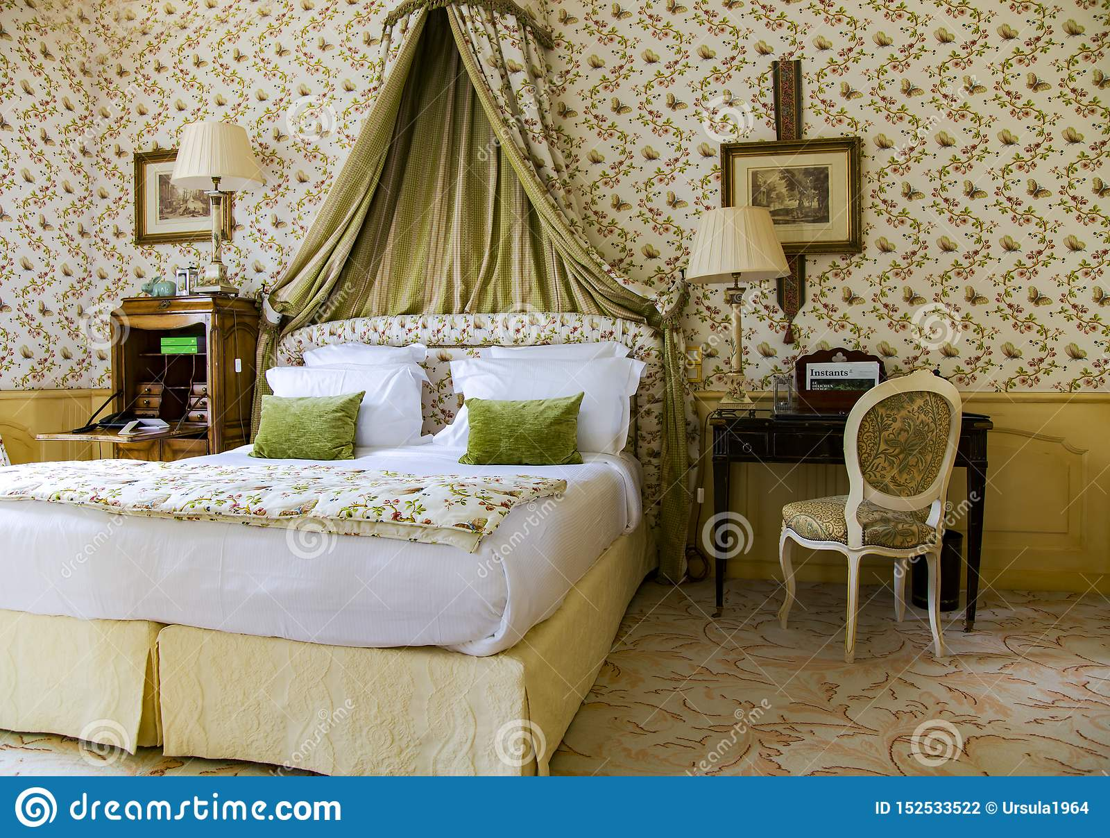 Luxury Bedroom Baroque Style In The Ancient Castle Chateau De Mirambeau Editorial Photography Image Of Room Bedroom 152533522