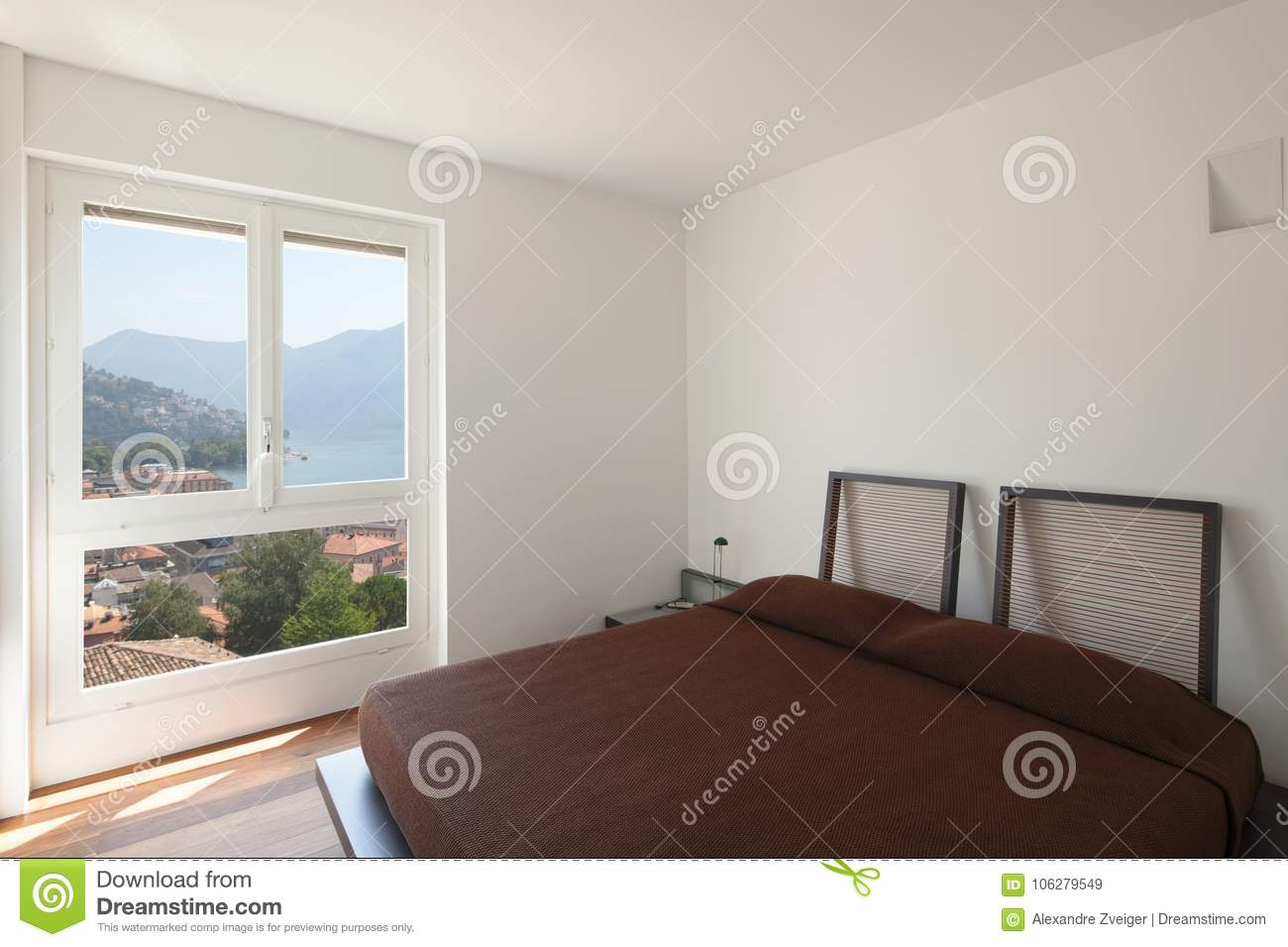 Luxury Bedroom And Beautiful View Stock Image - Image of leather ... bcd4e2114299f