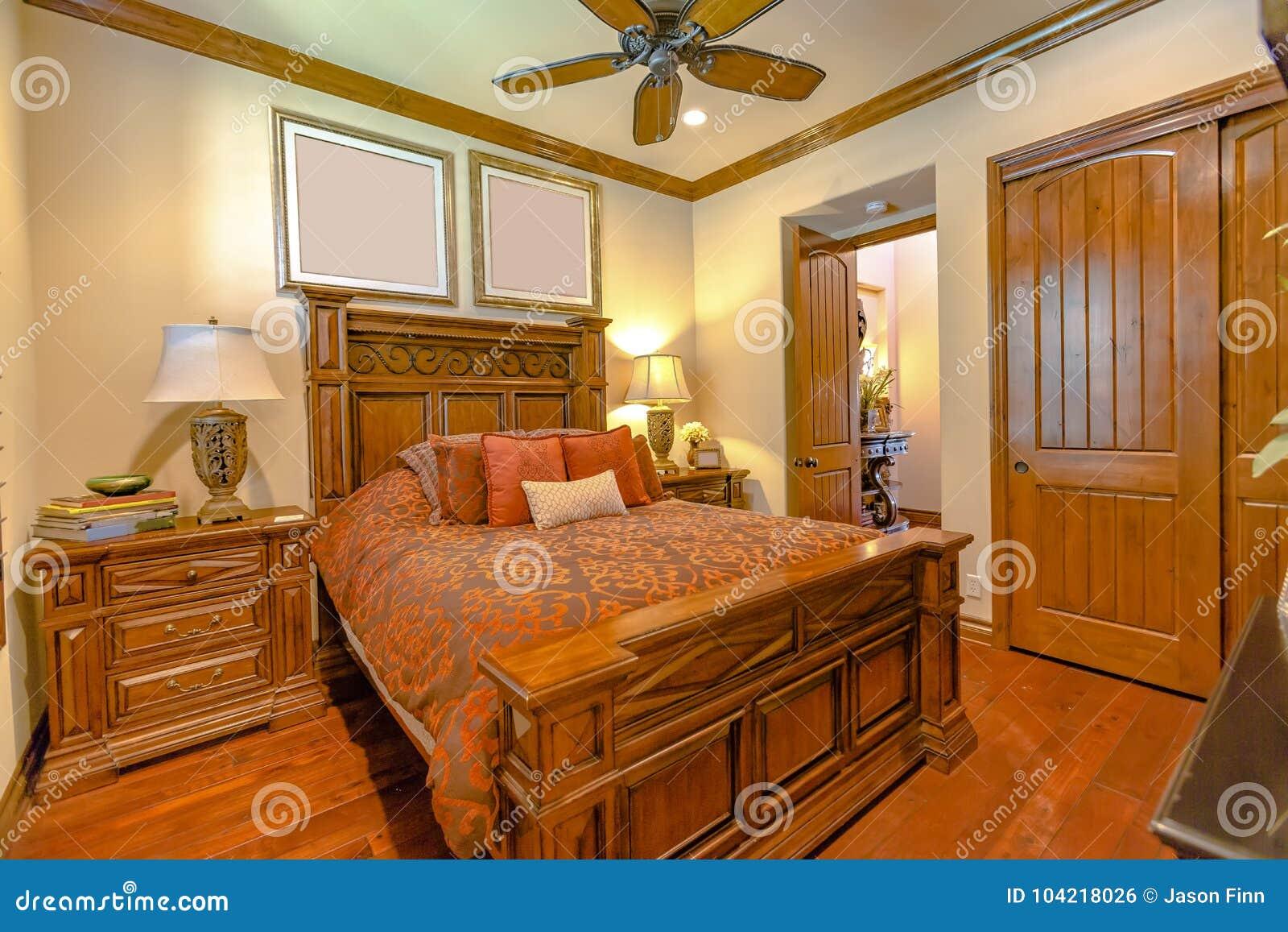 Luxury Bedroom In California Home With Maple Wood Floors