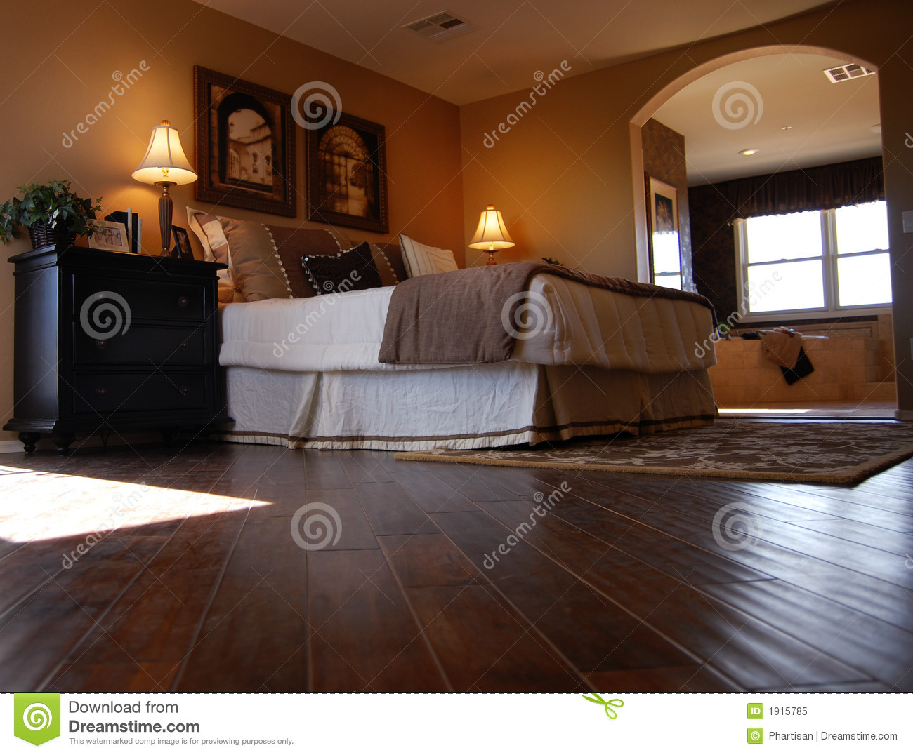 Luxury Bedroom With Hardwood Flooring Royalty Free Stock Photo Image 1915785
