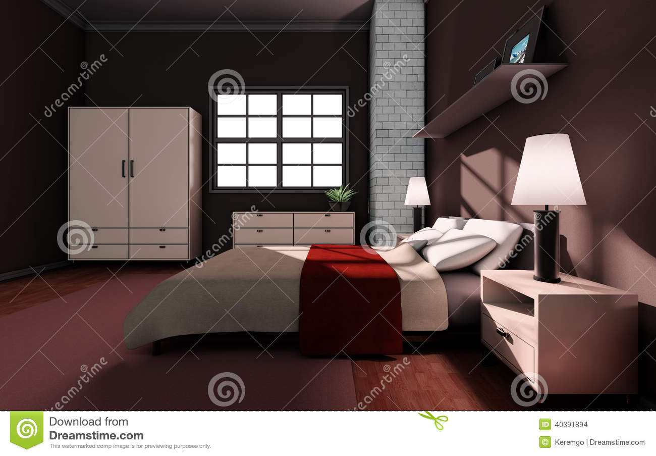 Luxury bedroom stock illustration image 40391894 for High resolution interior images