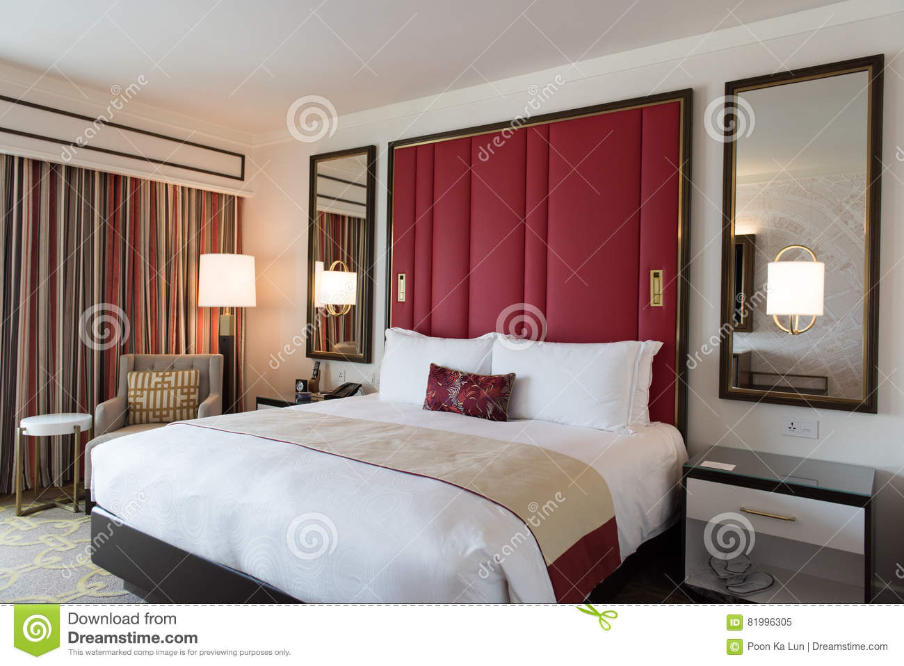 Luxury Bedroom Interior Design With Decoration Stock Image Image Of Decor Brown 81996305