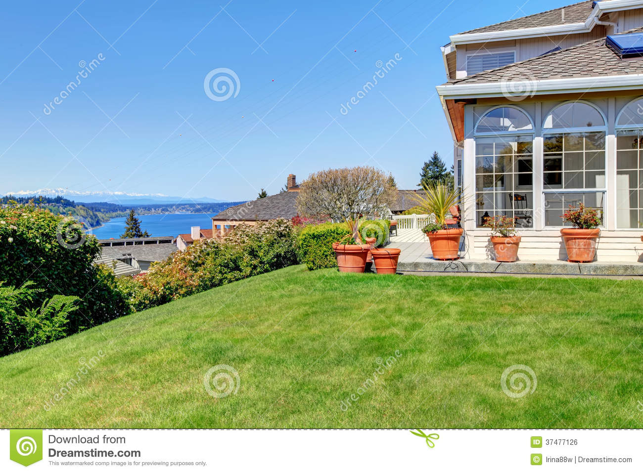 Luxury big house with amazing landscape view royalty free for Amazing big houses