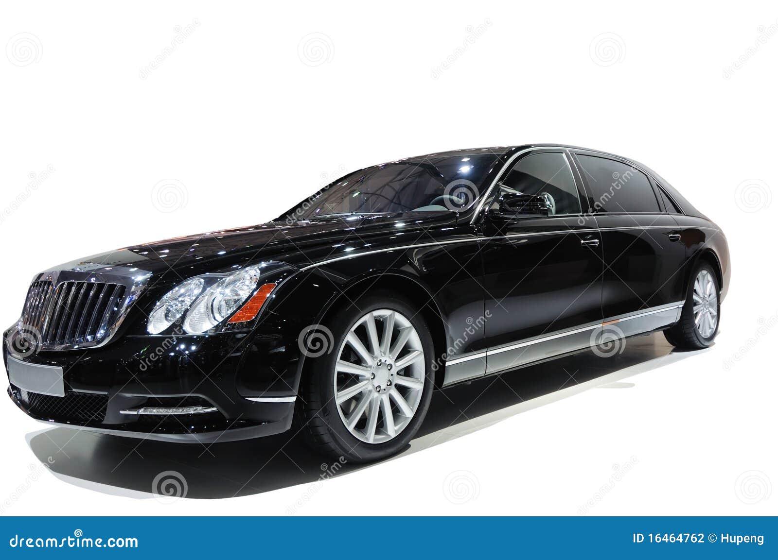Black Luxury Vehicles: Luxury Black Car Stock Photography