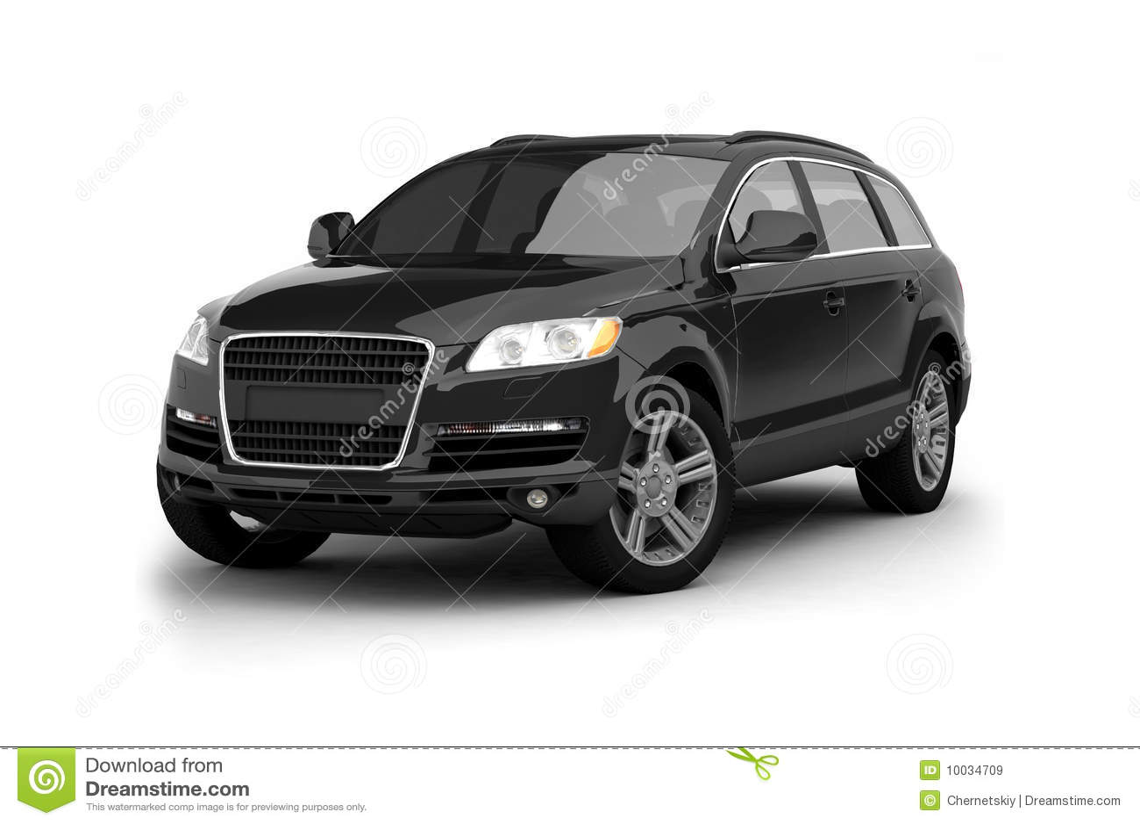 Luxury Black Crossover Suv Stock Illustration Image Of