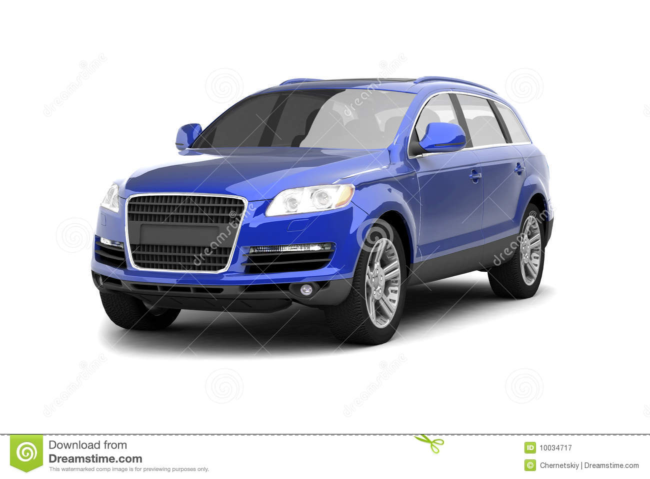 Luxury Blue Crossover SUV Royalty Free Stock Photography - Image: 10034717