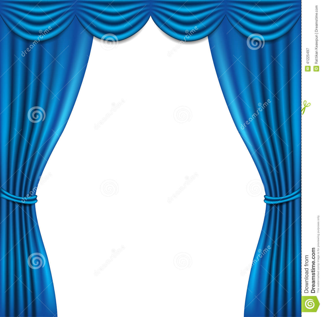 Blue stage curtains blue stage curtain vector free vector in - Luxury Blue Curtain On White Background Stock Vector