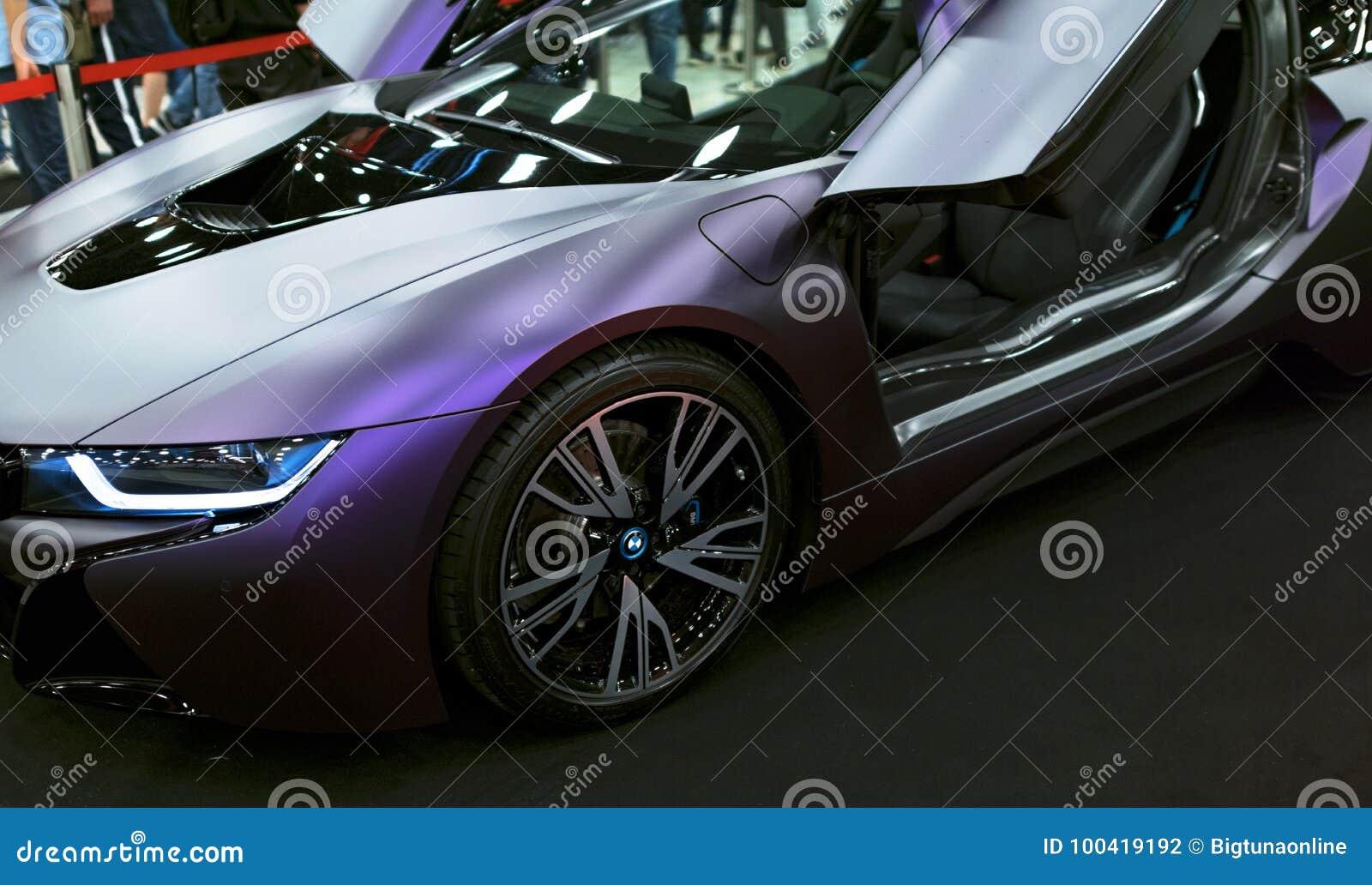 Luxury Bmw I8 Hybrid Electric Coupe Plug In Hybrid Sport Car