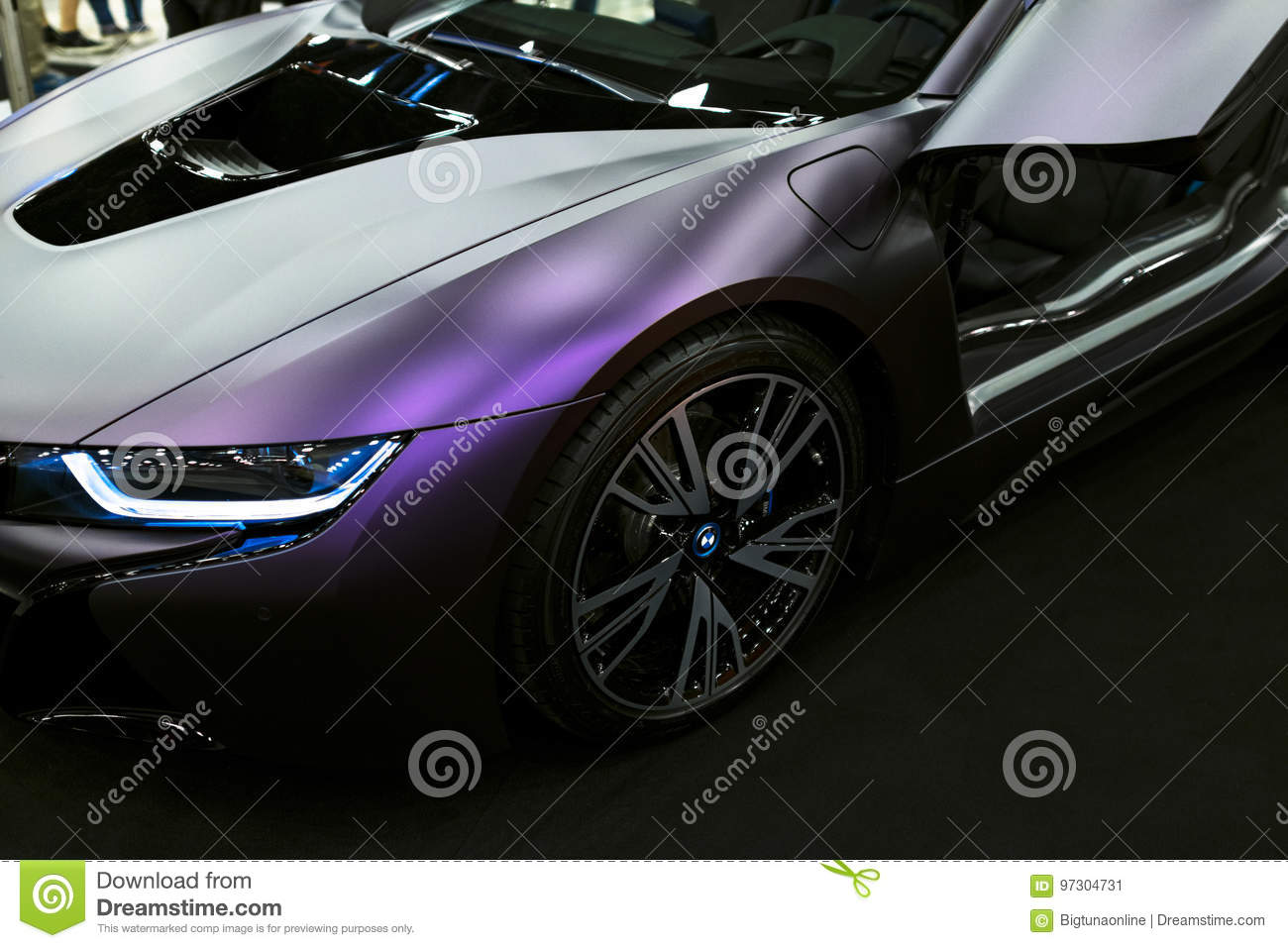 Luxury Bmw I8 Hybrid Electric Coupe Plug In Hybrid Sport Car