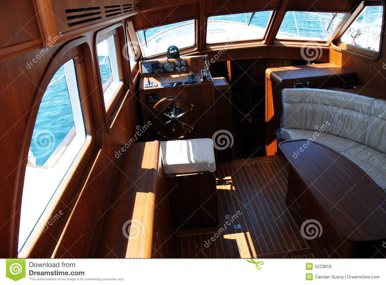 Luxury boat interior stock photo image of sailing for Interieur u boat