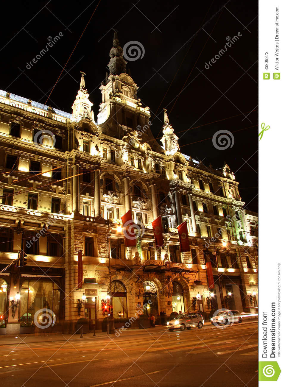Luxury boscolo hotel in budapest at night hungary for Luxury extended stay hotels nyc