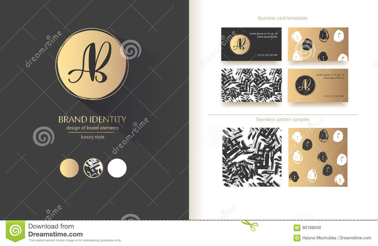 Luxury Brand Identity. Calligraphy AB Letters - Sophisticated Logo ...