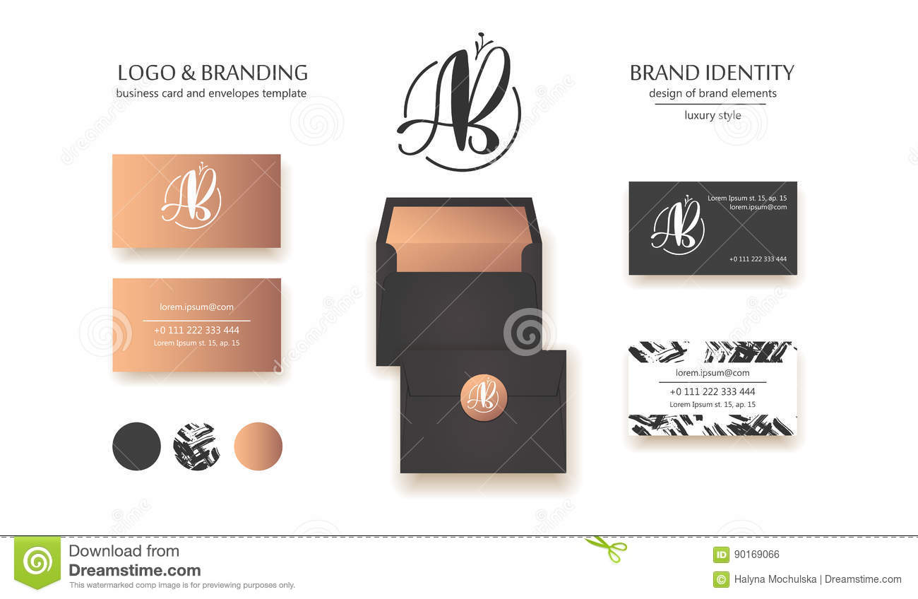 Luxury brand identity calligraphy ab letters sophisticated logo royalty free vector download luxury brand identity calligraphy ab letters sophisticated logo design couple business card reheart Image collections
