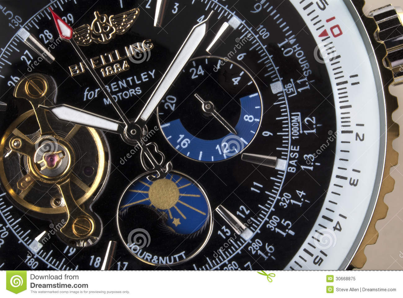 Breitling For Bentley >> Luxury Breitling Chronograph - Time Editorial Image ...