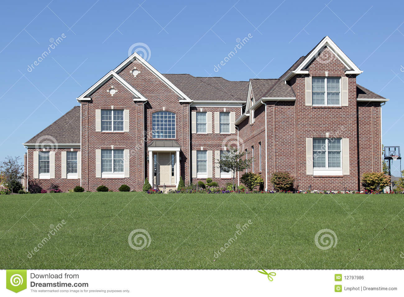 Luxury Brick Home Royalty Free Stock Image Image 12797986