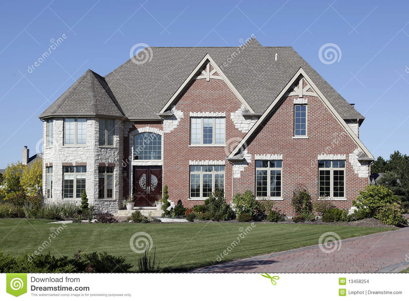 Luxury brick home stock images image 13458254 for Luxury brick house plans
