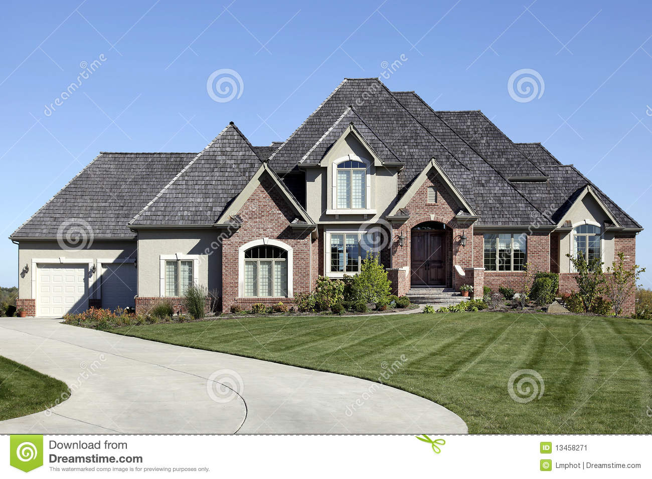 Luxury Brick Home Stock Image Image 13458271 Make Your Own Beautiful  HD Wallpapers, Images Over 1000+ [ralydesign.ml]