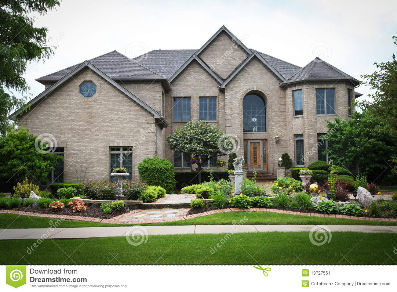 Luxury brick house stock image image of luxurios for Luxury brick house plans