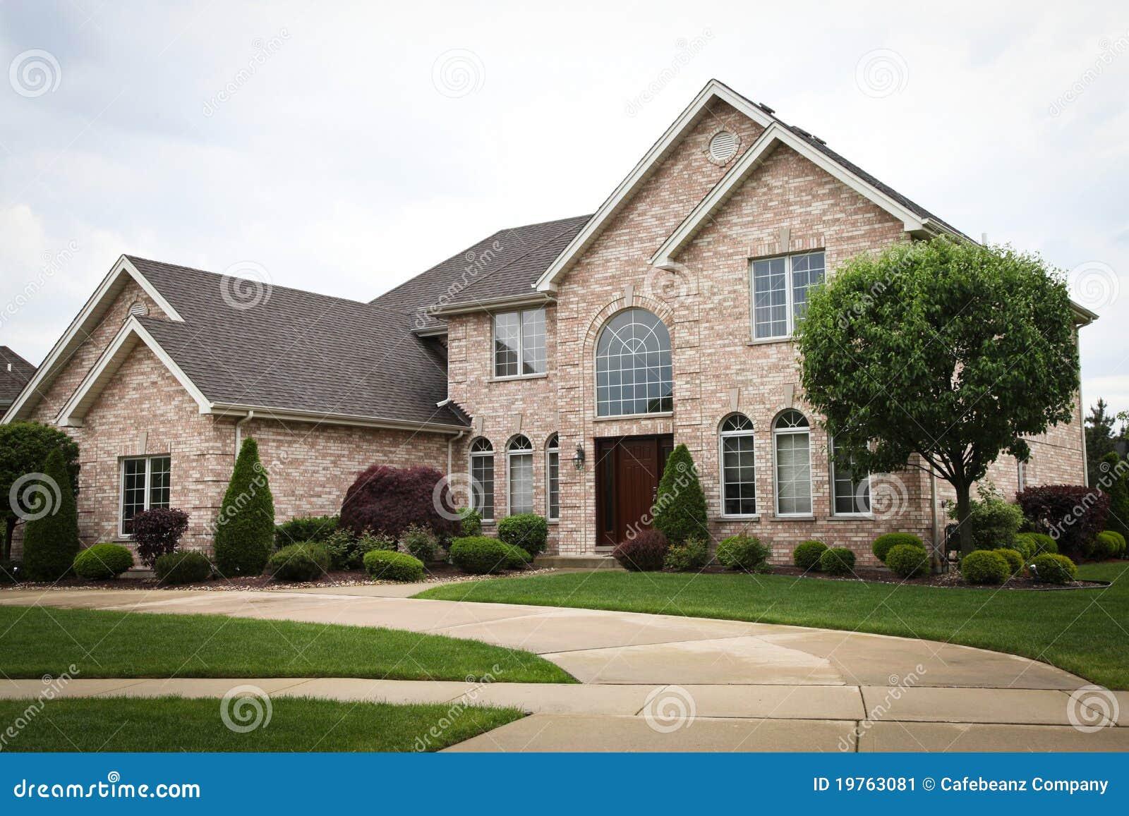 Luxury brick house stock image image 19763081 for Luxury brick house plans