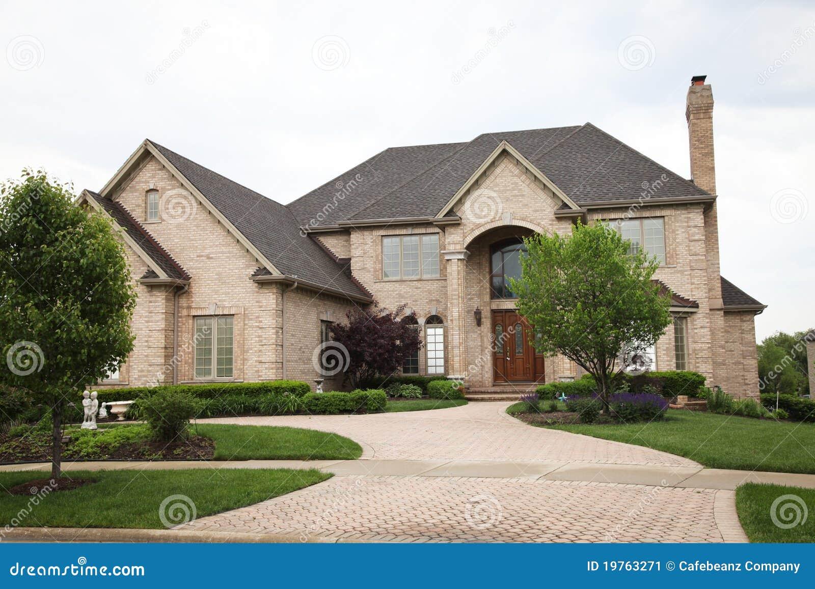Luxury Brick House Stock Image Image 19763271