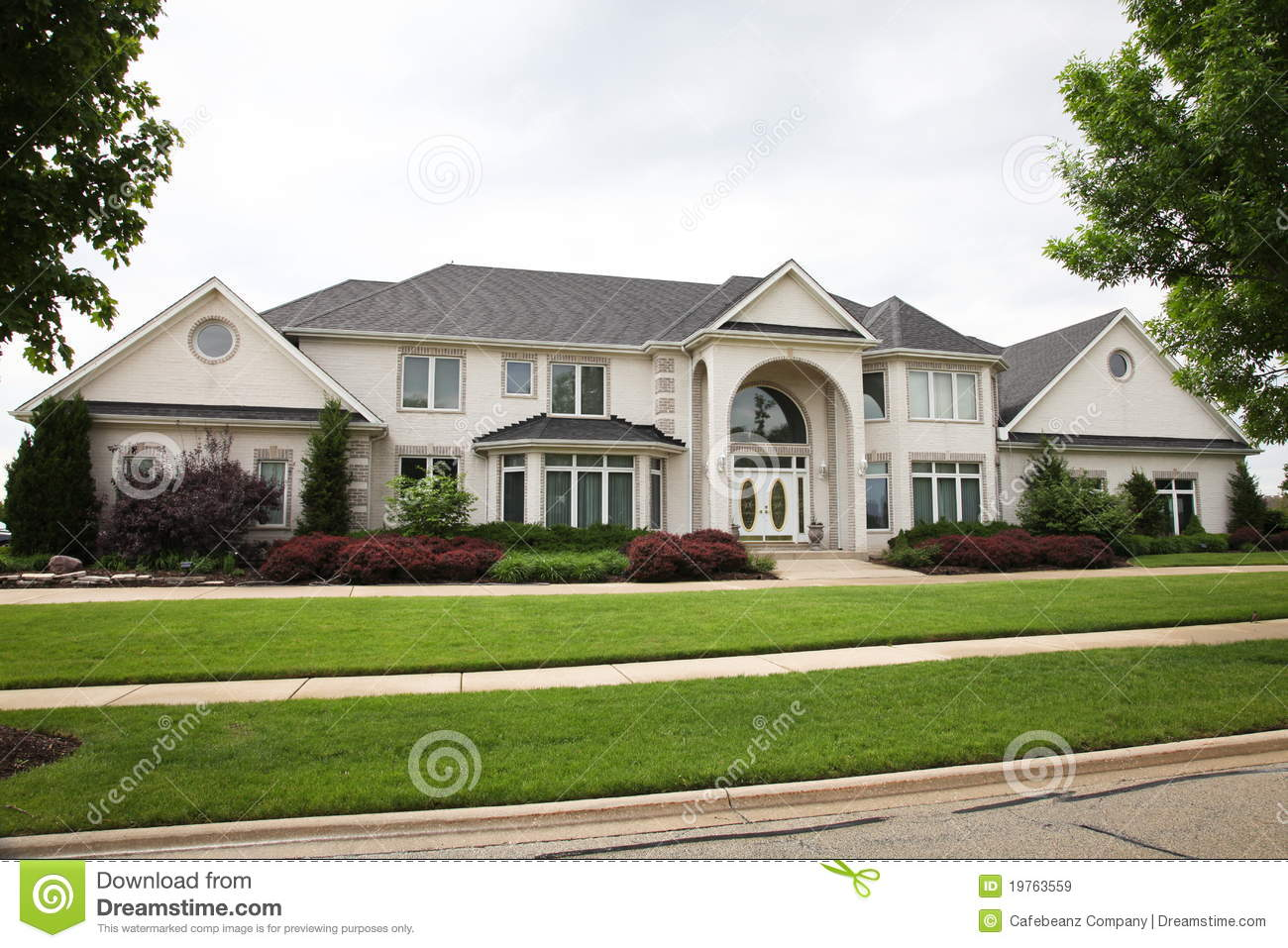Luxury Brick House Royalty Free Stock Images Image 19763559