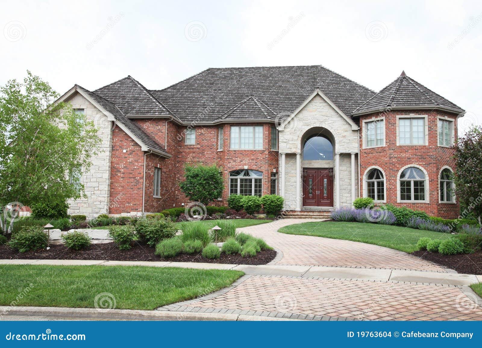 Luxury Brick House Stock Images Image 19763604