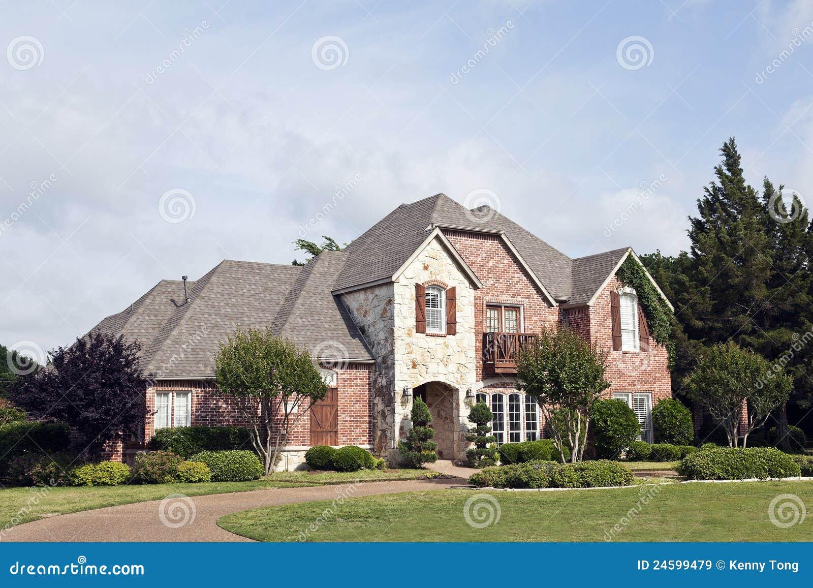 Luxury Brick House Royalty Free Stock Images Image 24599479