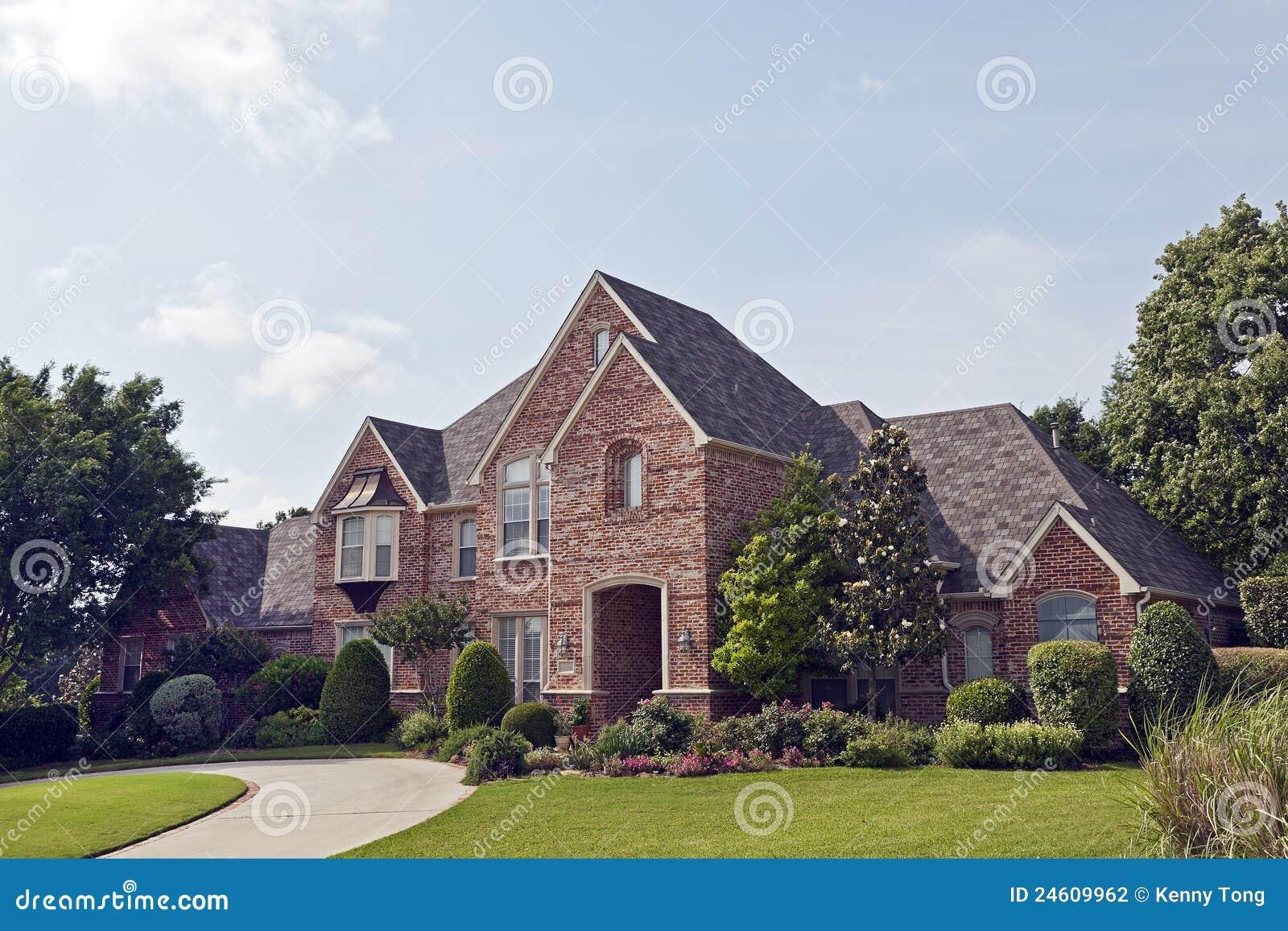 Luxury brick house stock photography image 24609962 for Luxury brick house plans
