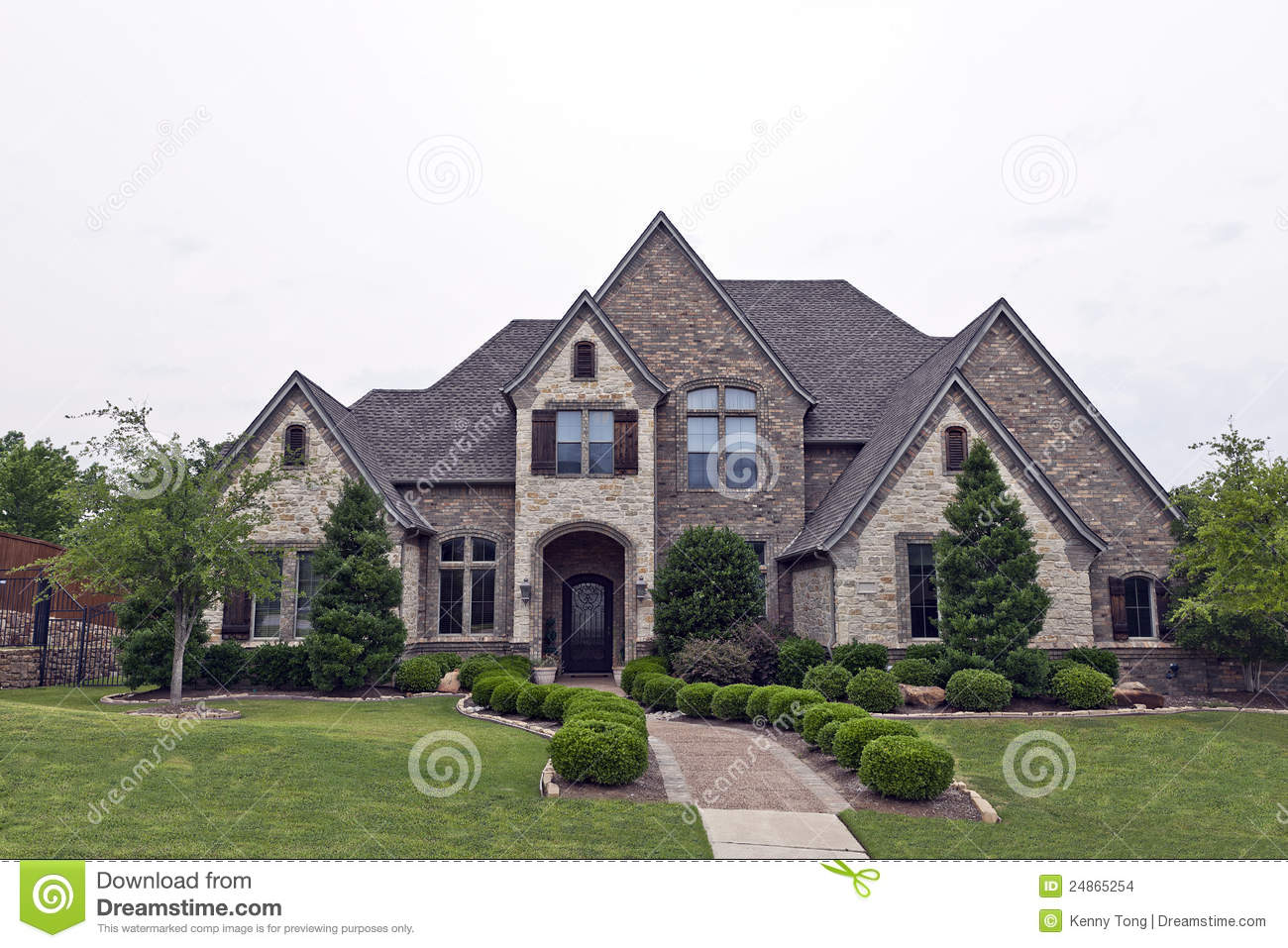 Luxury brick stone house stock images image 24865254 for Beautiful brick and stone homes