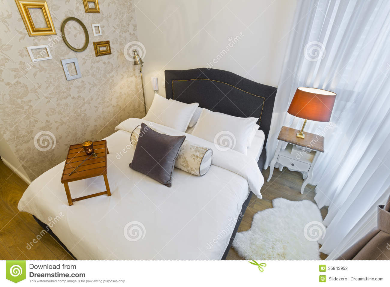 Luxury bright bedroom stock photography image 35843952 for Bright bedroom wallpaper