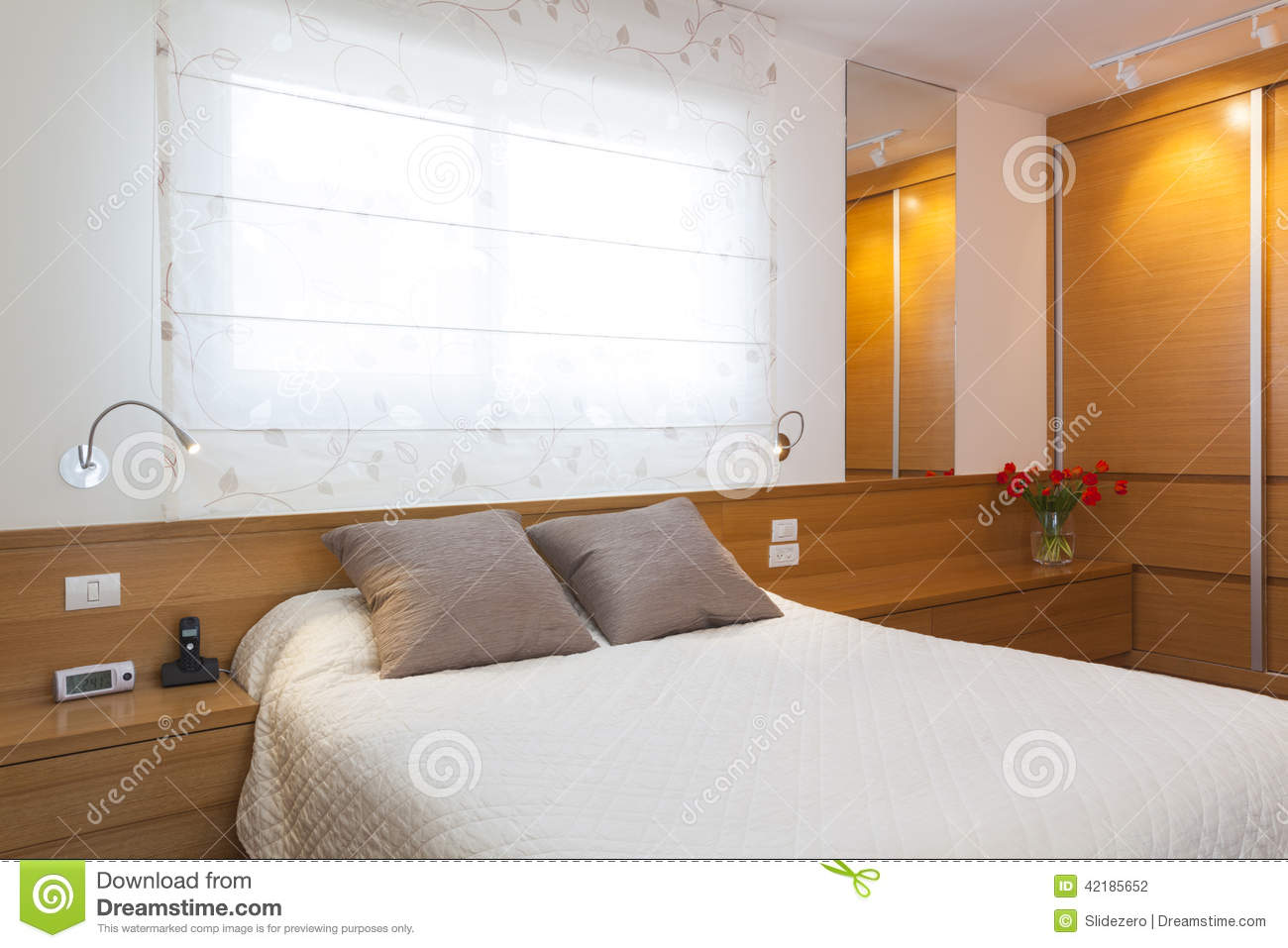 Luxury bright bedroom stock photo image 42185652 for Bright bedroom wallpaper