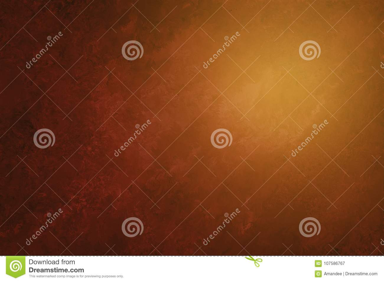 Luxury brown orange and black background with painted abstract marble texture in elegant design, soft sunlight or sunshine f