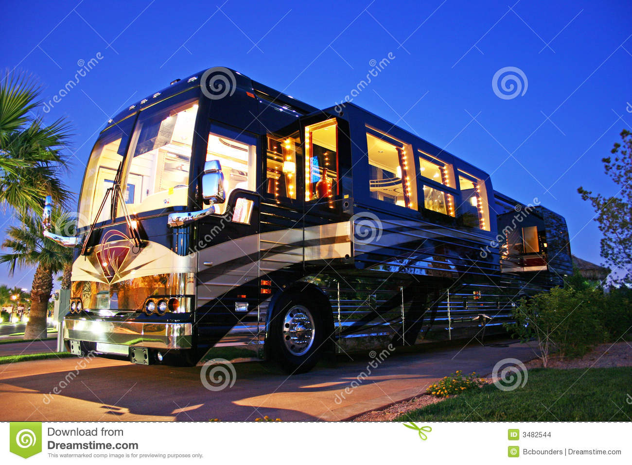 Luxury Bus Stock Images Image 3482544