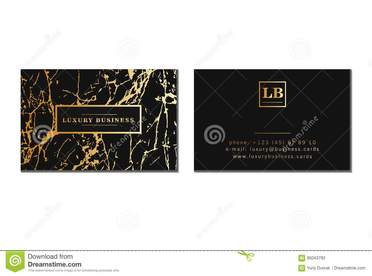 Luxury business cards banner and cover with marble texture and royalty free vector download luxury business cards reheart Image collections