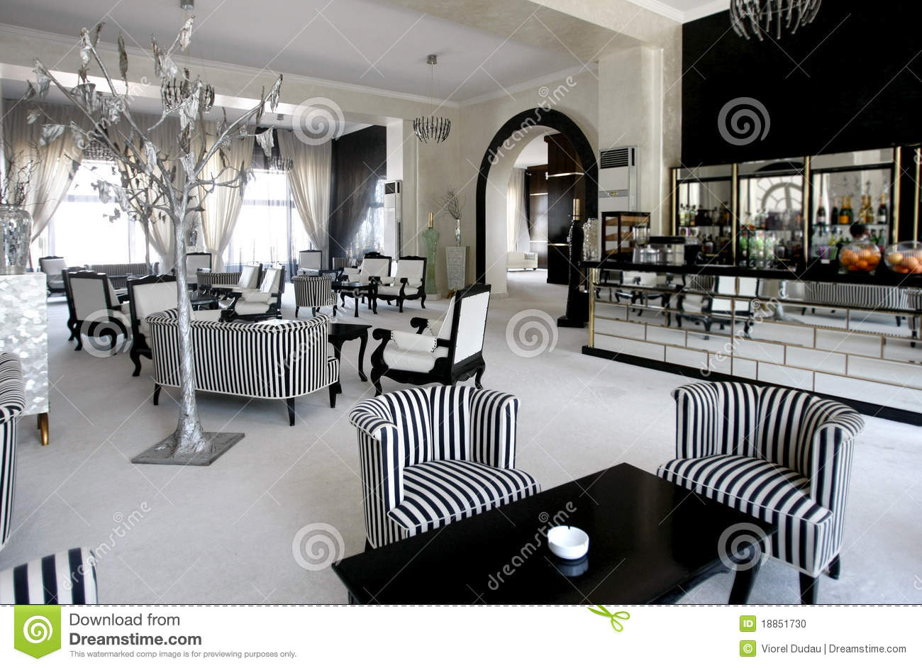 Luxury Cafe In Expensive Hotel Stock Image
