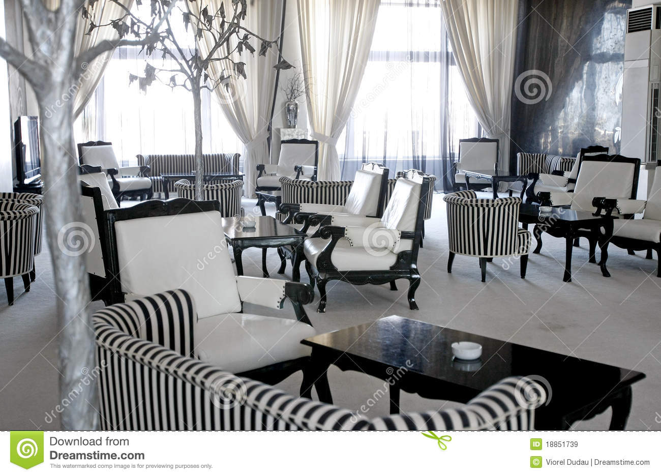 Luxury Cafe Or Lounge Room Royalty Free Stock Images