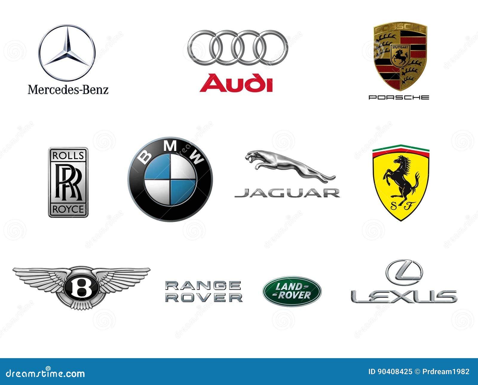 Luxury Car Brand Logos Editorial Image Illustration Of