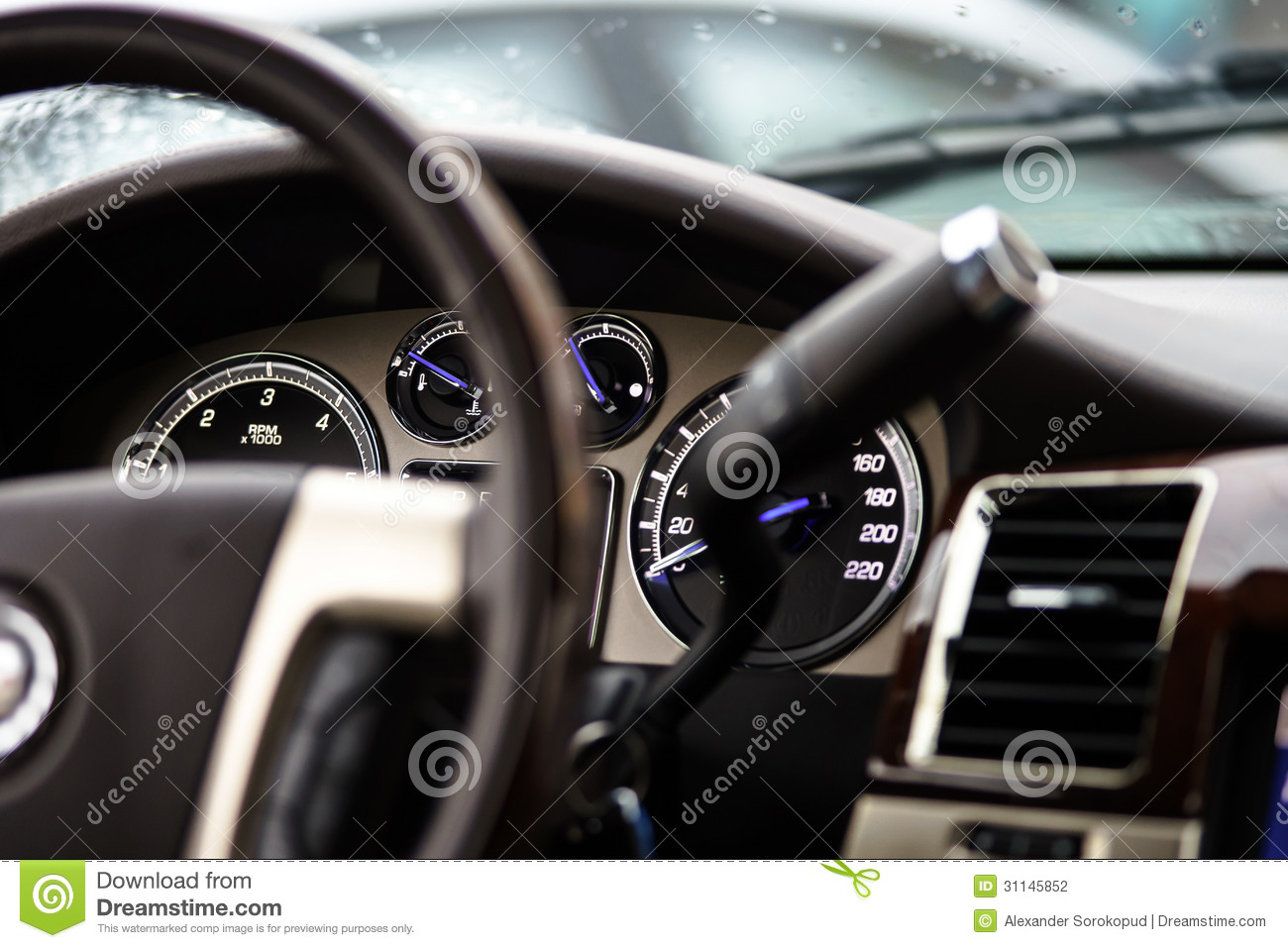 Luxury Car Dashboard Stock Photo Image Of Inside Arrow 31145852