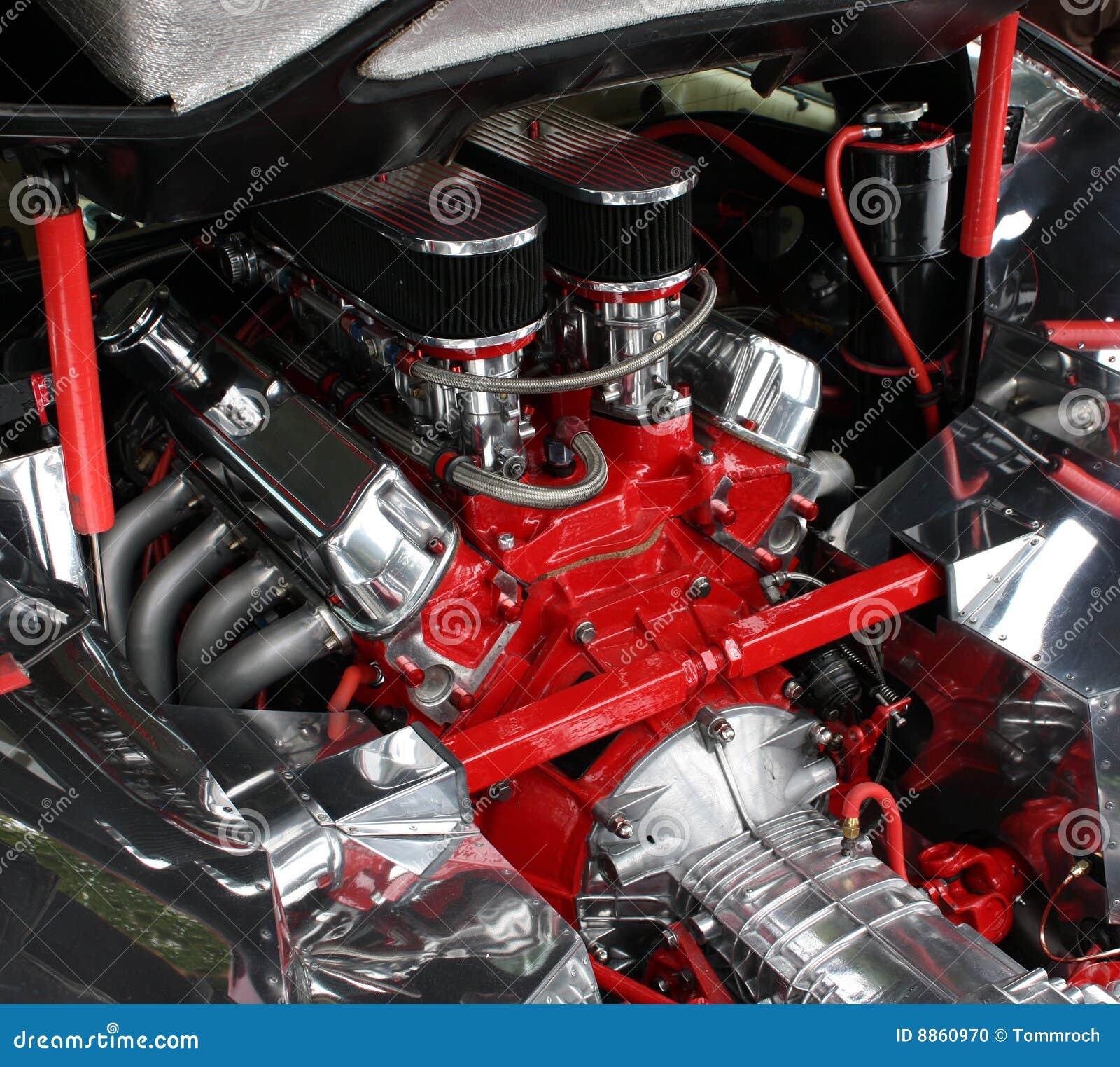 Luxury Car Engine Detail Stock Photo