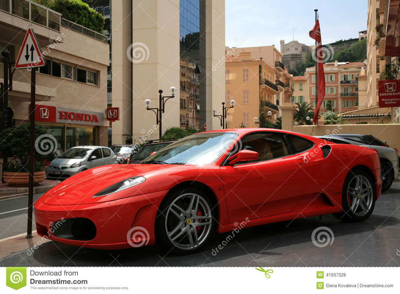Luxury Car Ferrari Parked Near Store Selling Car Editorial Stock Photo Image Of City French 41937328